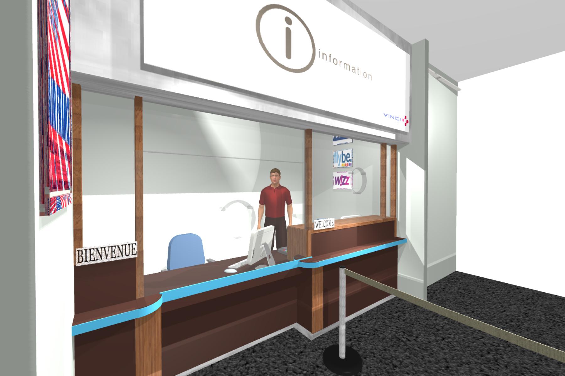 Aéroport Grenoble-Isère - Accueil / Réception / Devanture