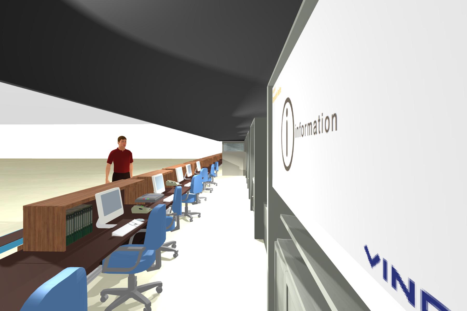 Aéroport Grenoble-Isère - Banque d'accueil / Bureau