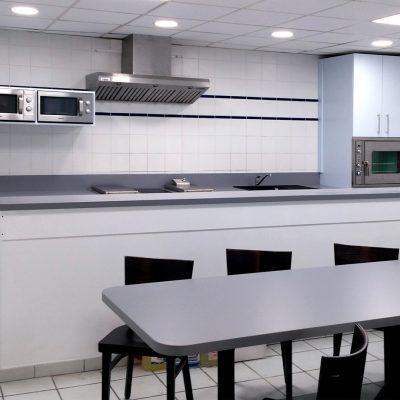 EDF Cuisine, rangements, réception, table, bar