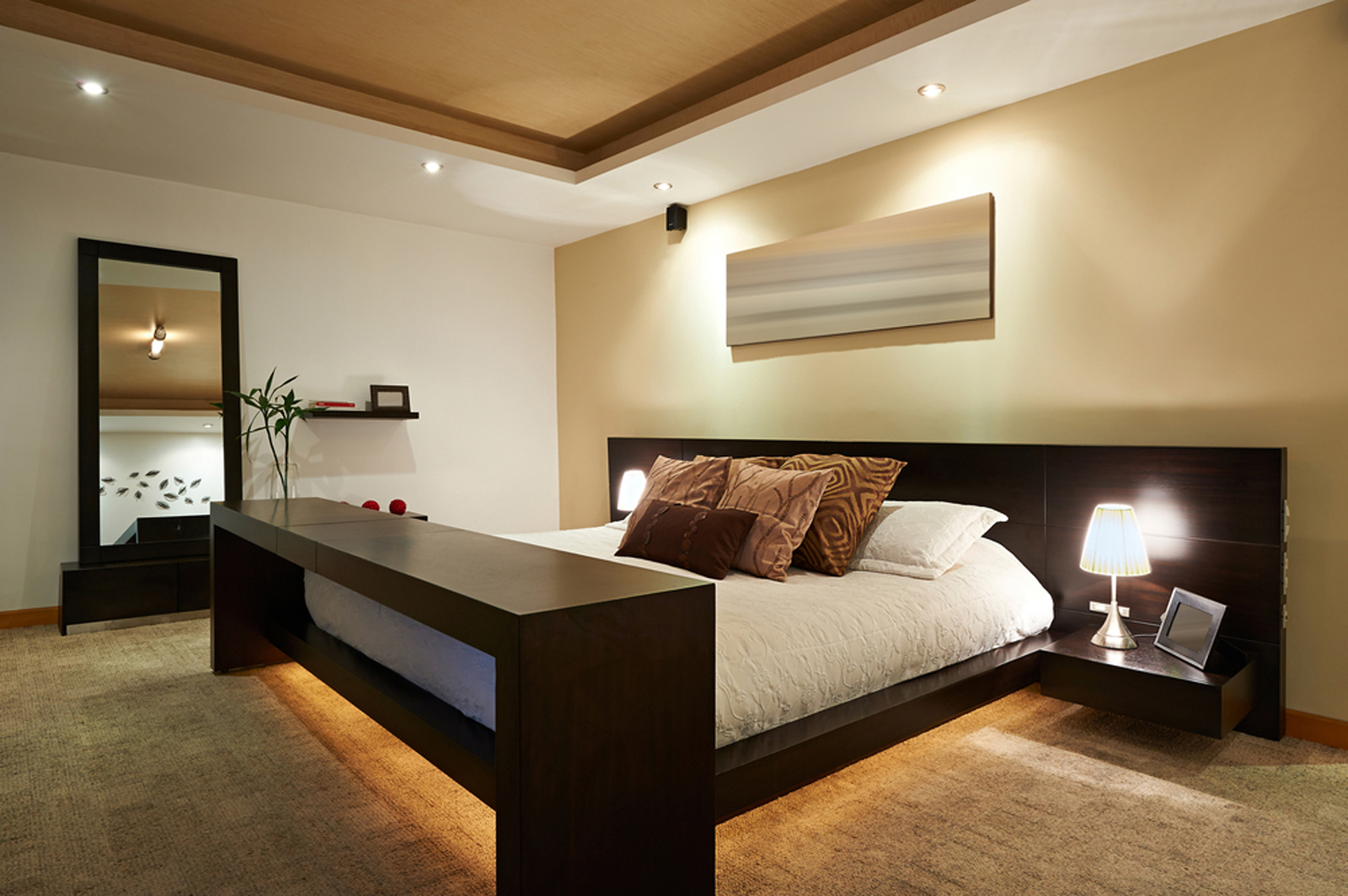 Mobilier bois lit hotel chambre