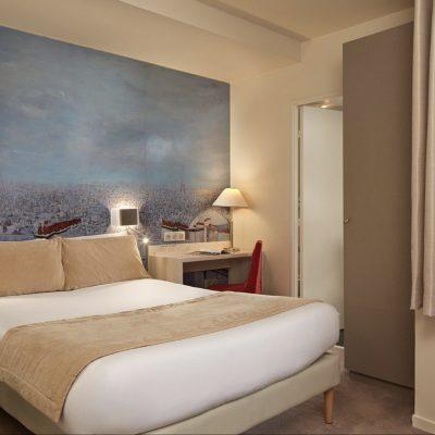 Agencement de 35 Chambres de l'hôtel Fertel Maillot à Paris